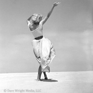 Photo of Dare Wright on a Beach on Ocracoke Island
