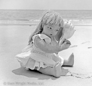 Dare Wright Media Photo. Edith, The Lonely Doll, On An Ocracoke Island Beach